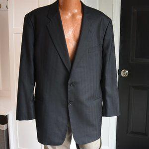 Armani Black Cashmere & Silk Sport Coat 48R